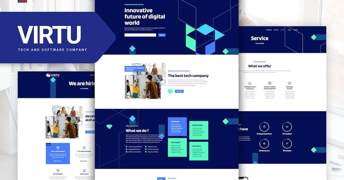 Download Virtu - Tech & Software Company Elementor Template kit by Rometheme