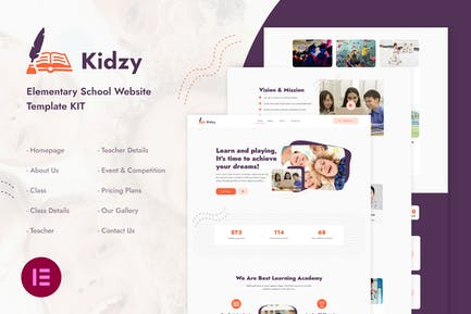 Kidzy | Elementary School Elementor Template Kit