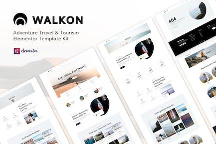 WalkOn - Adventure Travel & Tourism Elementor Template Kit