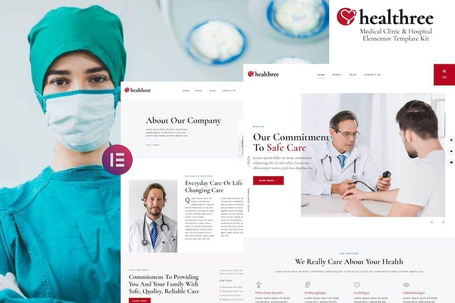 Healthree - Medical Clinic & Hospital Elementor Template Kit
