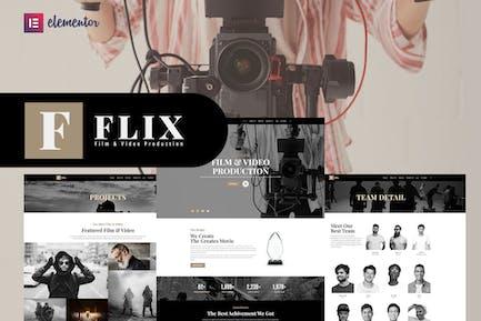 Flix - Film & Video Production Elementor Template Kit