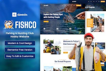 Fishco - Fishing & Hunting Club Elementor Template Kit