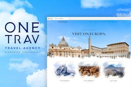 Onetrav - Travel Agency Elementor Template Kit