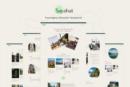 Sayahat - Travel Agency Elementor Template kit