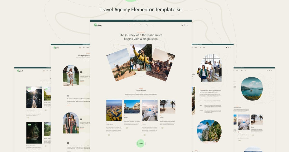 Download Sayahat - Travel Agency Elementor Template kit by energeticthemes
