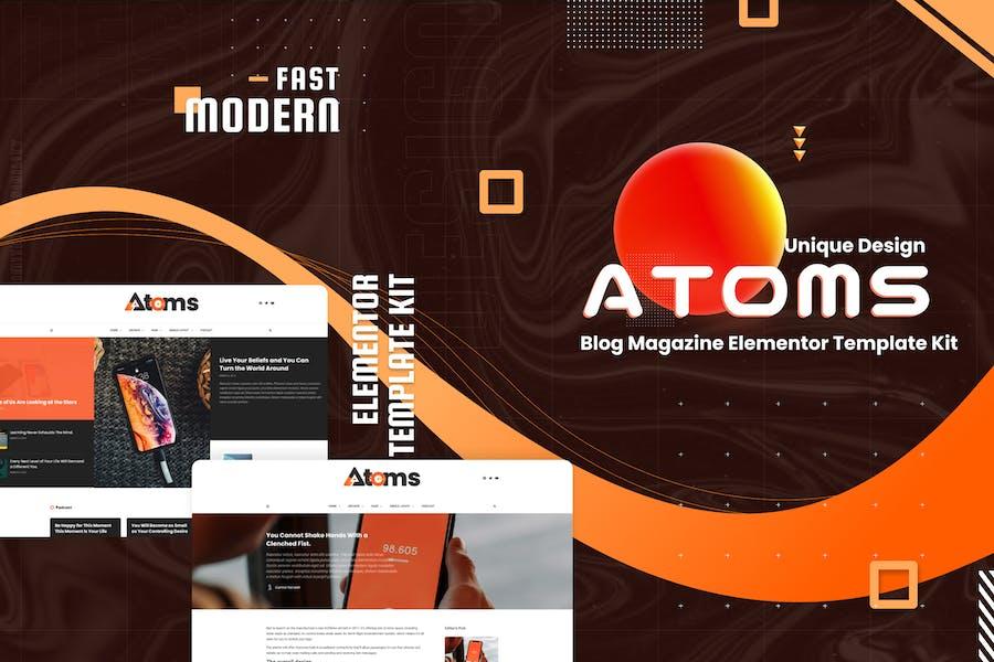 Atoms - Blog & Magazine Elementor Template Kit
