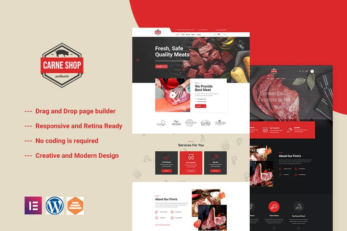 Carne - Meat Shop Elementor Template Kit