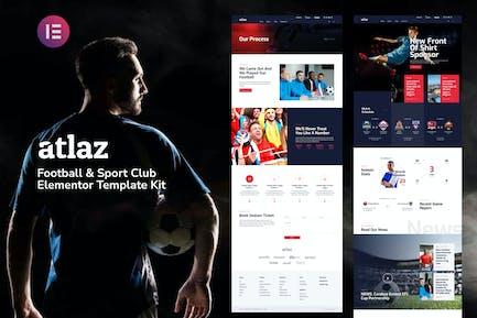 Atlaz - Football & Sports Club Elementor Template Kit