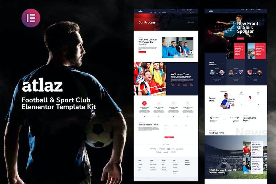 Atlaz - Fußball & Sport Club Elementor Template Kit