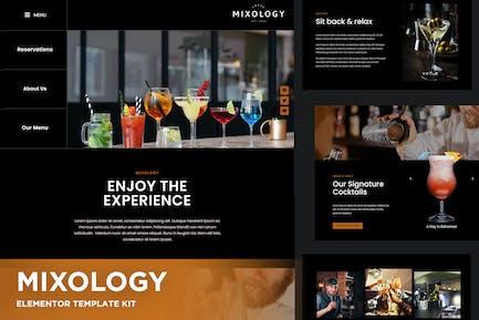 Mixology - Bar & Cocktails Elementor Template Kit