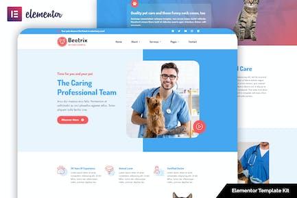 Beetrix - Pet Clinic & Hospital Elementor Template Kit