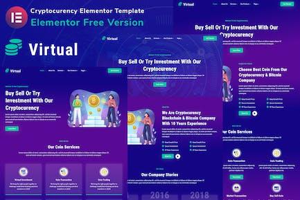 Virtual - Cryptocurency Blockchain & Bitcoin Elementor Template Kit