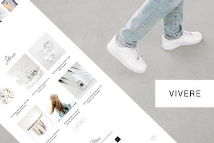 Vivere - Creative Blog Elementor Template Kit