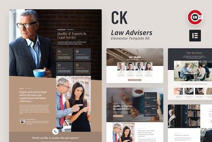 CK - Juego de Plantilla abogado