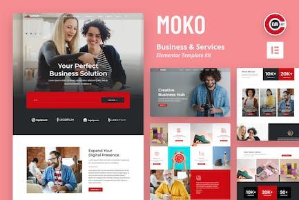 Moko - Business & Services Elementor Template Kit