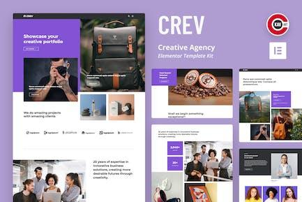 Crev - Template Kit Elementor de la Agencia Creativa