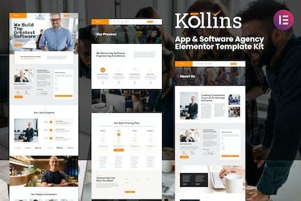 Kollins - App & Software Agency Elementor Template Kit