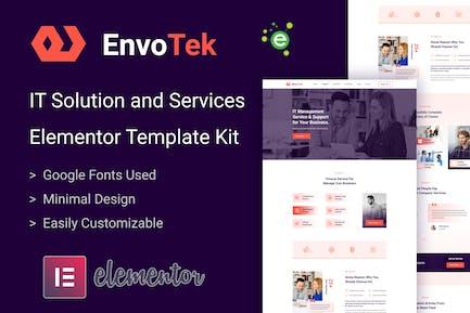 EnvoTek - IT Solution & Services Elementor Template Kit