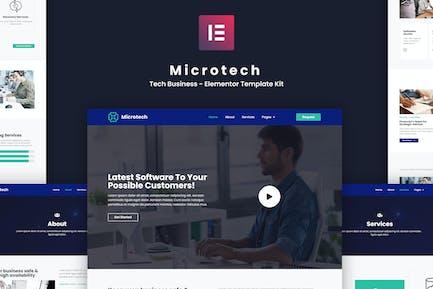 Microtech - Tech Business Elementor Template Kit