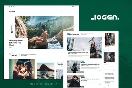 Logen - Lifestyle Blog Elementor Template Kit