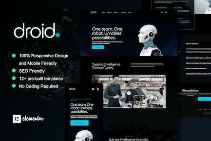 Droid - Robotics & Technology Services Elementor Template Kit