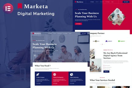 Marketa - Digital Agency Business Services Elementor Template Kit