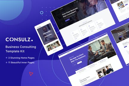 Consulz - Consulting Company Elementor Template Kit