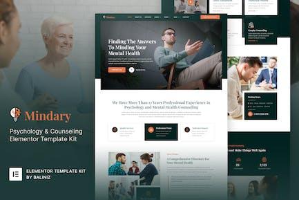 Mindary - Template Kit para Elementor de Psicología y Consejería