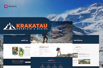 Krakatau - Mountain & Hiking Elementor Template Kit