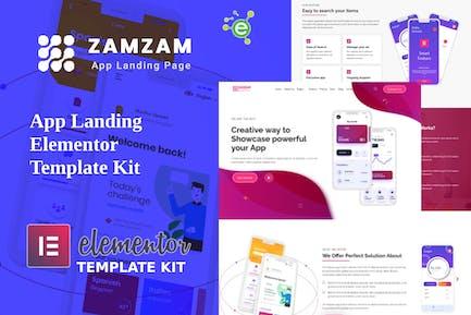 Zamzam - App Landing Elementor Template Kit