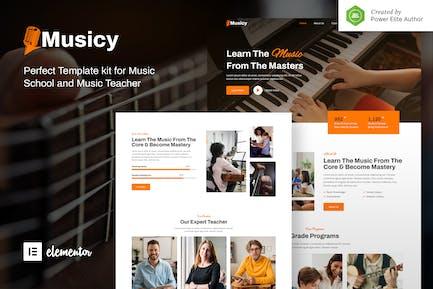 Musicy – Music School Elementor Template Kit