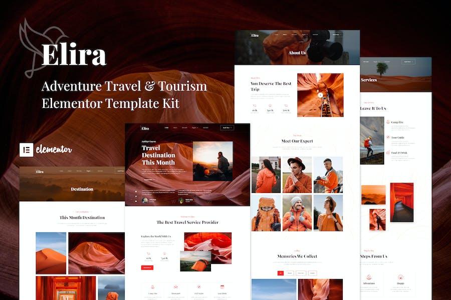 Elira - Template Kit Elementor de viajes de aventura y turismo