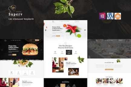 Superv Cafe - Restaurant Elementor Template Kit