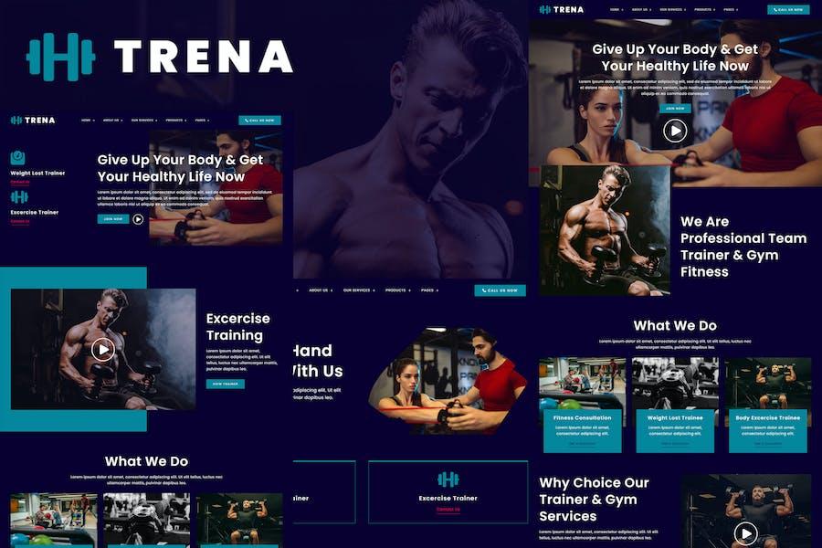 Trena - Sport & Fitness Trainer Services Elementor Template Kit