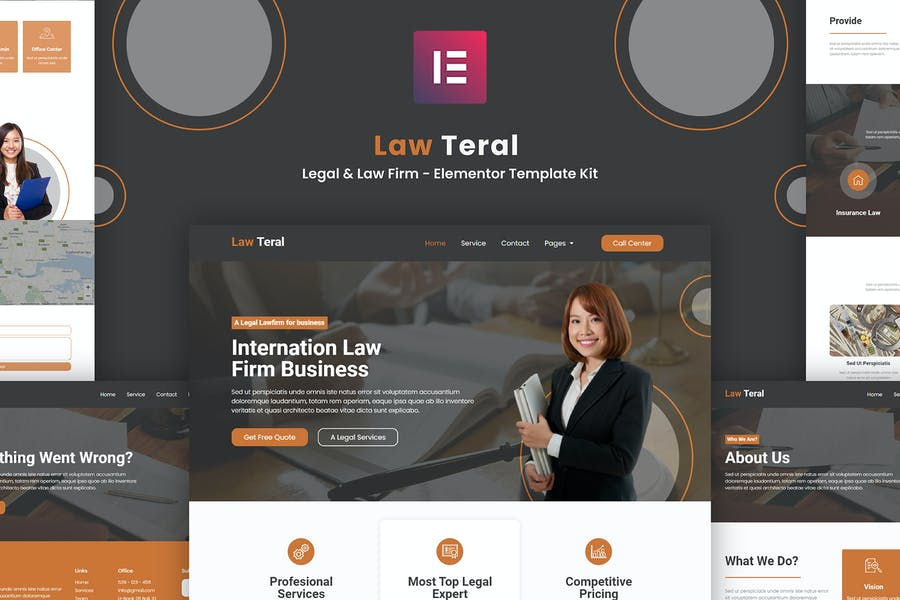 LawTeral - Legal & Law Firm Elementor Template Kit