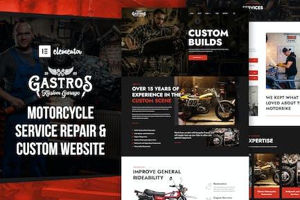 Gastros Garage - Motorcycle Service Repair  Elementor Template Kit