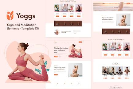 Yoggs - Yoga & Meditation Elementor Template Kit
