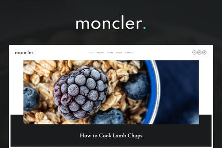Moncler - Food Blog Elementor Template Kit