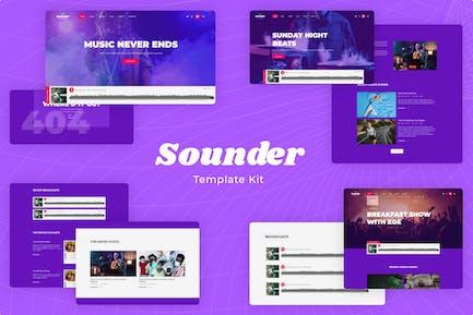 Sounder   Online Internet Radio Station Template Kit