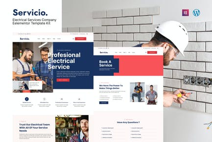 Servicio - Electrician & Electrical Services Template Kit