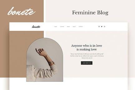 Bonete - Feminine Blog Elementor Template Kit