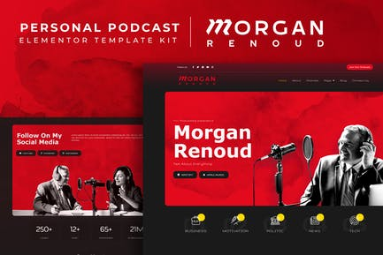 Morgan Renoud - Personal Podcast Elementor Template Kit