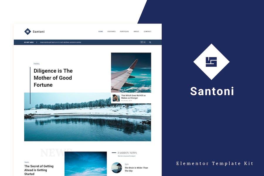 Santoni - Blog & Magazine Elementor Template Kit