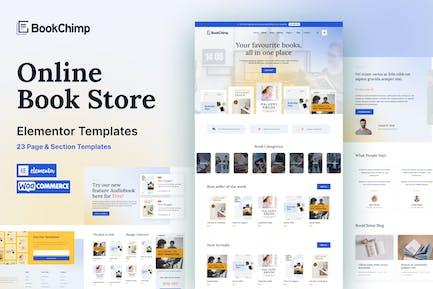 BookChimp - Online Book Store Website Elementor Template Kit