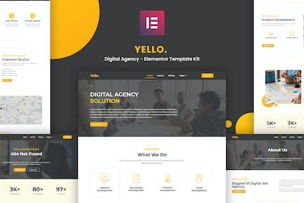 Yello - Digital Agency Elementor Template Kit