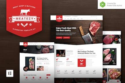 Meatezy – Meat Shop & Butcher Elementor Template Kit