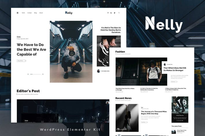 Nelly - Blog & Magazine Elementor Template Kit