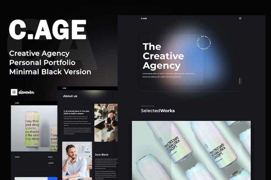 C.AGE - Creative Agency Personal Portfolio Elementor Template Kit