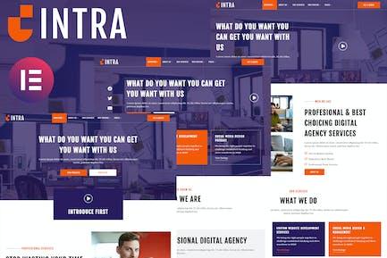 Intra - Modern Digital Agency Elementor Template Kit