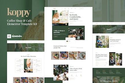 Koppy - Coffee Shop & Cafe Elementor Template Kit